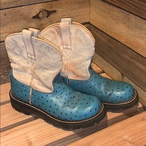 Genuine leather Ariat Fat Baby cowgirl boots